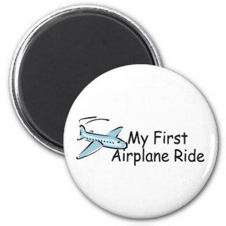 Airplane My First Airplane Ride 2 Inch Round Magnet