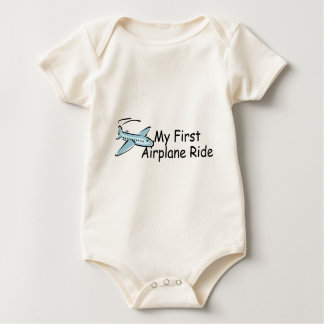 Airplane My First Airplane Ride Baby Bodysuit