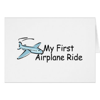 Airplane My First Airplane Ride Card