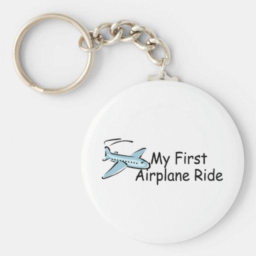 Airplane My First Airplane Ride Keychains