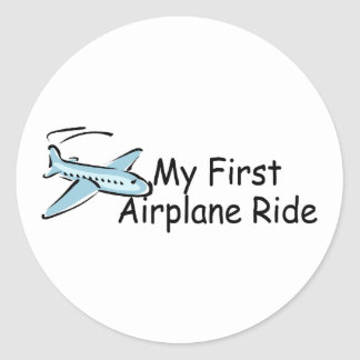Airplane My First Airplane Ride Stickers