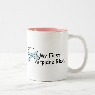 Airplane My First Airplane Ride Two-Tone Coffee Mug