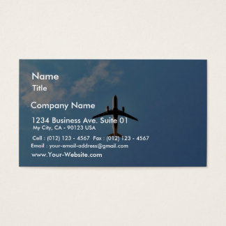 Airplane On Sky Business Card