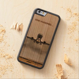 Airplane on the verge of landing cherry iPhone 6 bumper case