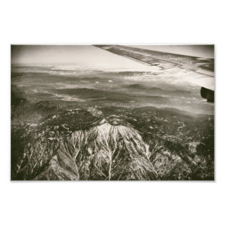 Airplane Over Snowy Mountains Aerial Shot Photograph