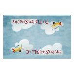 Airplane Party Snack Bag Topper - Blue Full Colour Flyer