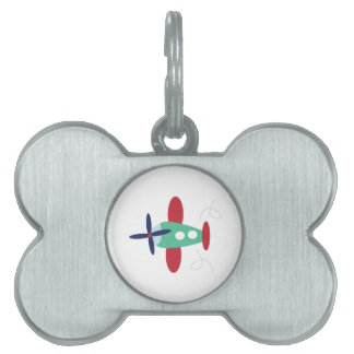 Airplane Pet Name Tag