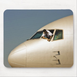 Airplane & Pilot -1 Mouse Pad