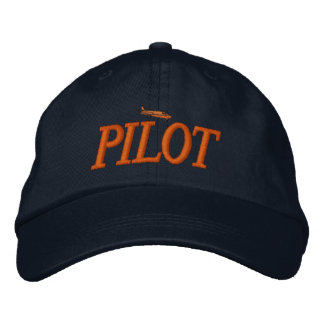 Airplane Pilot Embroidered Hat