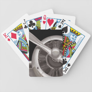 Airplane Propeller Closeup Bicycle Playing Cards