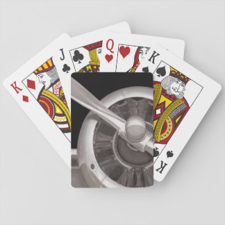 Airplane Propeller Closeup Playing Cards