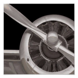 Airplane Propeller Closeup Poster