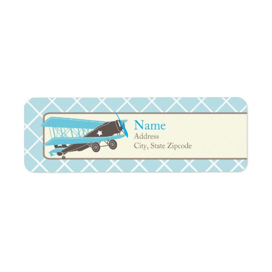Airplane Return Address Label