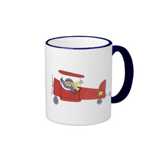 Airplane Ringer Coffee Mug