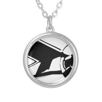 airplane silver plated necklace