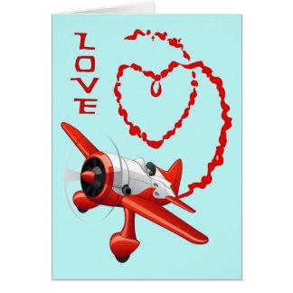 AIRPLANE SKYWRITER - LOVE CARD