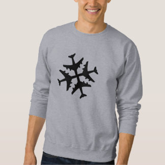 Airplane Snowflake Sweatshirt