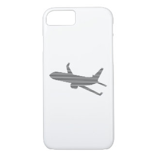 Airplane - strips - black  and white. iPhone 8/7 case