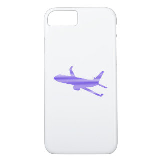 Airplane - strips - blue and white. iPhone 8/7 case