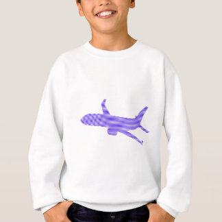 Airplane - strips - blue and white. sweatshirt