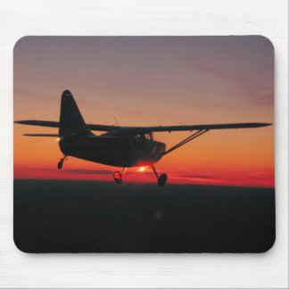 Airplane Sunset Mouse Pad