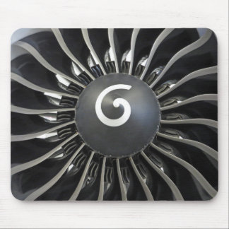 Airplane turbine mouse pad