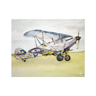Airplane Watercolor Canvas Print