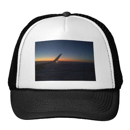 Airplane Wing in the Sunrise Trucker Hat