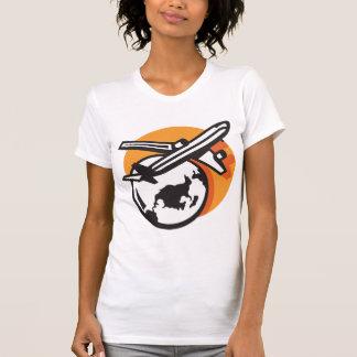 Airplane World Travel Womens T-Shirt