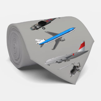 AIRPLANES-CHANGEABLE BACKGROUND COLOR TIE