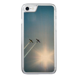 Airplanes Flying on Blue Sky with Sun. Carved iPhone 8/7 Case
