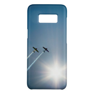 Airplanes Flying on Blue Sky with Sun. Case-Mate Samsung Galaxy S8 Case