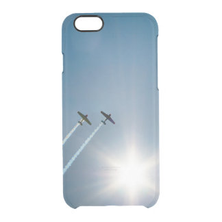 Airplanes Flying on Blue Sky with Sun. Clear iPhone 6/6S Case