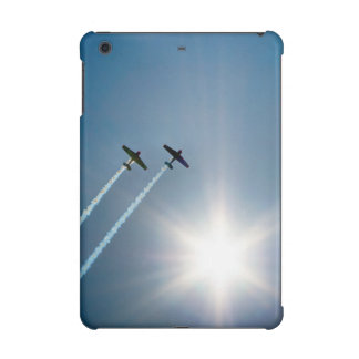Airplanes Flying on Blue Sky with Sun. iPad Mini Cases
