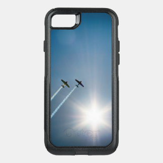 Airplanes Flying on Blue Sky with Sun. OtterBox Commuter iPhone 8/7 Case