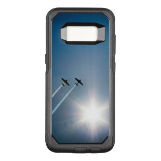 Airplanes Flying on Blue Sky with Sun. OtterBox Commuter Samsung Galaxy S8 Case