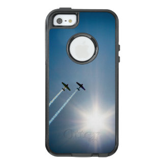 Airplanes Flying on Blue Sky with Sun. OtterBox iPhone 5/5s/SE Case
