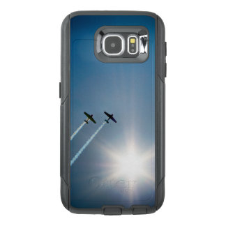 Airplanes Flying on Blue Sky with Sun. OtterBox Samsung Galaxy S6 Case