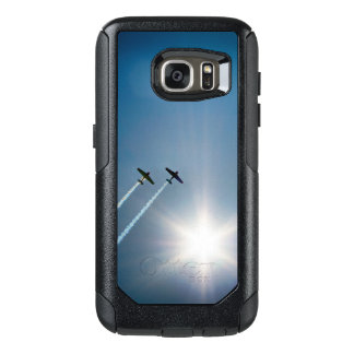 Airplanes Flying on Blue Sky with Sun. OtterBox Samsung Galaxy S7 Case