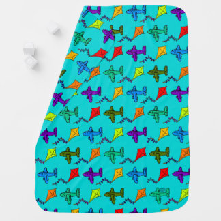 Airplanes & Kites I Stroller Blanket