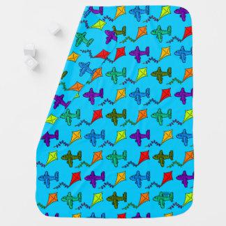 Airplanes & Kites II Stroller Blankets