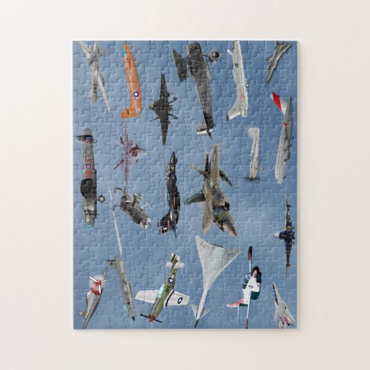 AIRPLANES ON A CAROLINA BLUE SKY JIGSAW PUZZLE
