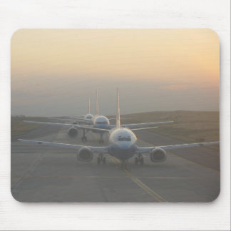 Airplanes on Runway Mouse Pad