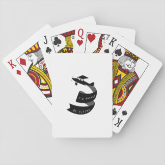 Airplanes Pilot  Funny Flyer Flying Gift Playing Cards