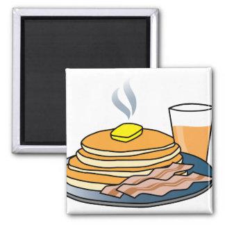 Airport Fundraiser Pancake Breakfast Square Magnet