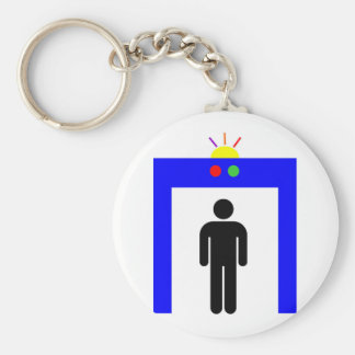 airport metal detector security alarm stick man sy keychain