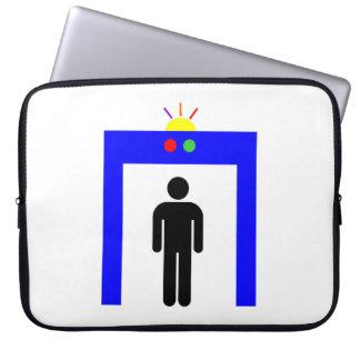 airport metal detector security alarm stick man sy laptop sleeve
