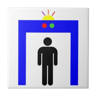 airport metal detector security alarm stick man sy tile