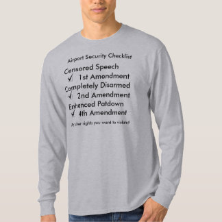 Airport rights checklist T-Shirt
