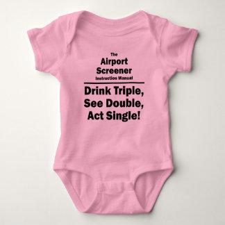 airport screener baby bodysuit